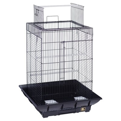 Clean Life PlayTop Bird Cage Color: Black