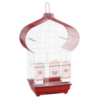 Casbah Parakeet Bird Cage Color: Red