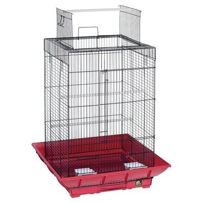 Clean Life PlayTop Bird Cage Color: Red / Black