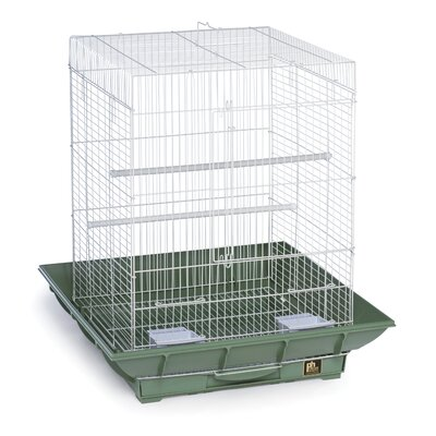 Clean Life Cockatiel Bird Cage Color: Green / White
