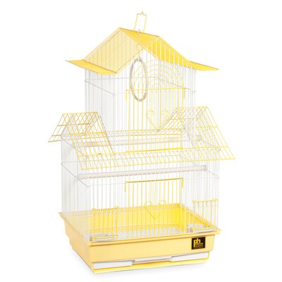 Shanghai Parakeet Bird Cage Color: Yellow / White