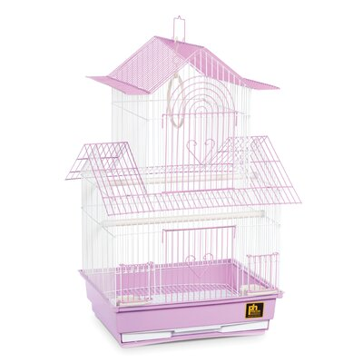 Shanghai Parakeet Bird Cage Color: Lilac / White
