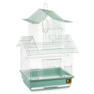 Shanghai Parakeet Bird Cage Color: Green / White