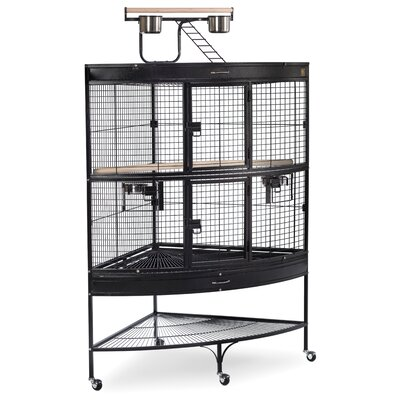 Large Bird Cage with Storage Shelf
