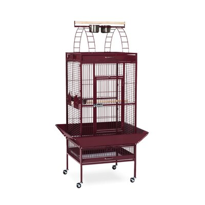 Signature Series Select Medium Bird Cage Color: Garnet Red