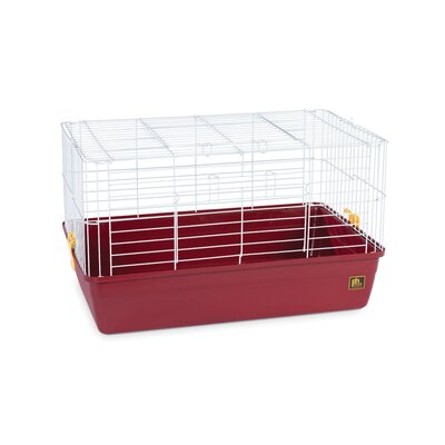 Deep Tub Small Animal Cage Size: 16 H x 28 W x 17 D, Color: Red