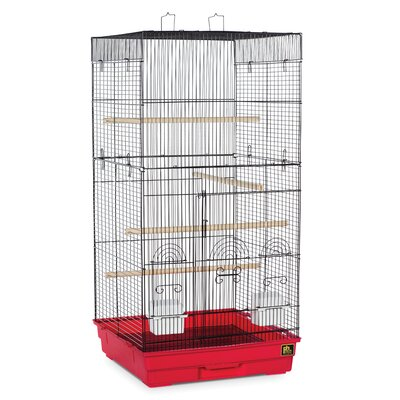 Prevue Pet Products Tall Tiel Cage with Food Access Color: Red