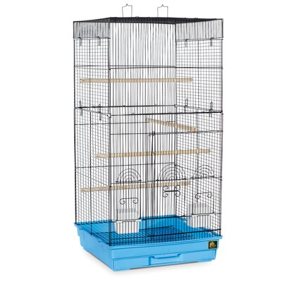 Prevue Pet Products Tall Tiel Cage with Food Access Color: Blue