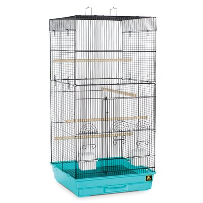 Prevue Pet Products Tall Tiel Cage with Food Access Color: Green