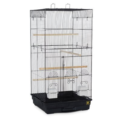 Prevue Pet Products Tall Tiel Cage with Food Access Color: Black