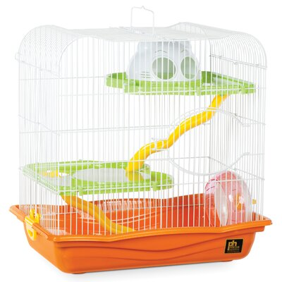 Hamster Animal Haven with Platform Color: Orange