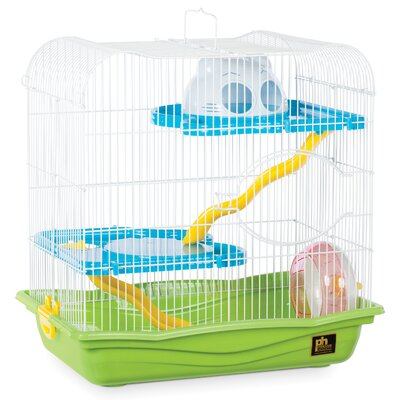 Hamster Animal Haven with Platform Color: Green