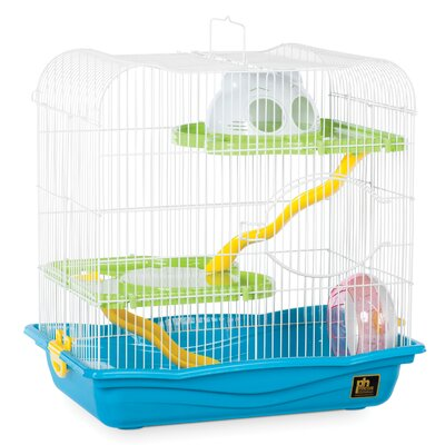 Hamster Animal Haven with Platform Color: Blue