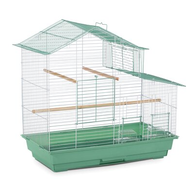 Bird Cage with Removable Tray Color: Green