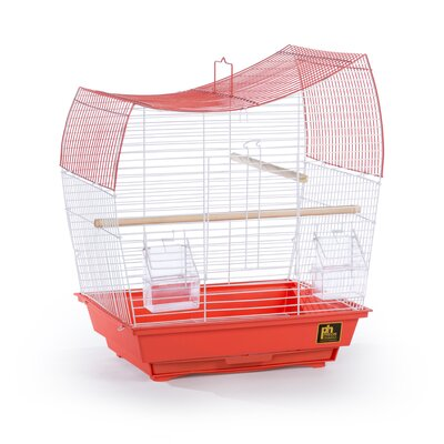 Pet Products Southbeach Wave Top Bird Cage Color: Coral