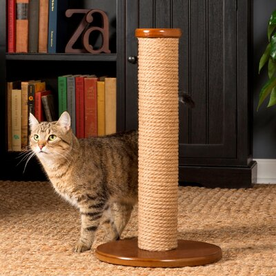 Kitty Power Paws Scratching Post Size: Short (22.5 H x 15.75 W x 15.75 D)
