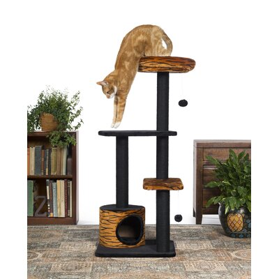 48 Kitty Power Paws Tiger Tower Cat Tree