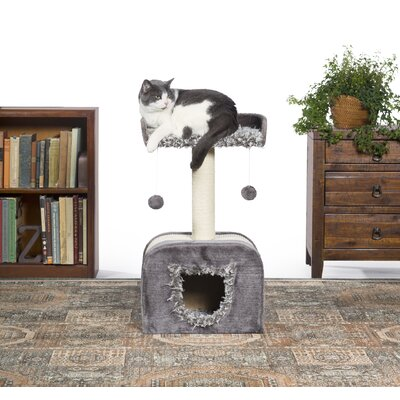 29 Kitty Power Paws Shag Hideaway Cat Tree