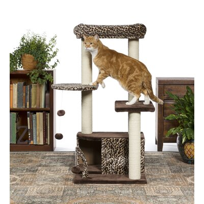 43 Kitty Power Paws Leopard Lounge Cat Tree