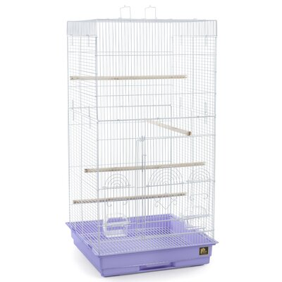 Tiel Bird Cage with Handle Color: Periwinkle Blue