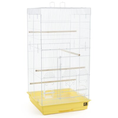 Tiel Bird Cage with Handle Color: Yellow