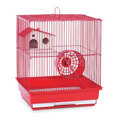 2-Story Small Animal Cage Color: Red