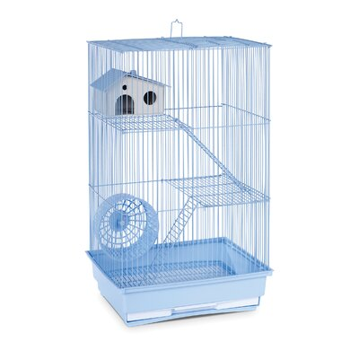 3-Story Hamster/Gerbil Home-Mint Green Color: Light Blue