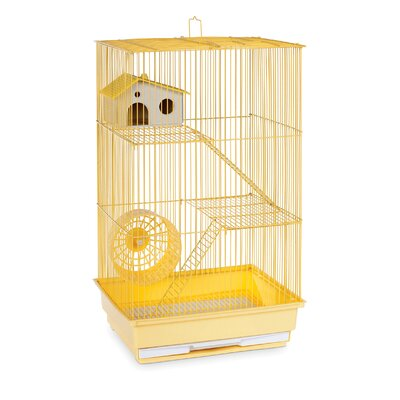 3-Story Hamster/Gerbil Home-Mint Green Color: Yellow