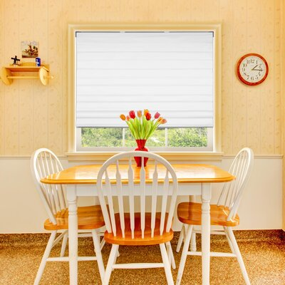 Blackout Roman Shade Blind Size: 33.5 W x 60 L, Finish/Finish: Cloud White