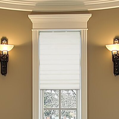 Marvin Blackout Roman Shade Size: 34.5 W X 60 L, Color: Ivory
