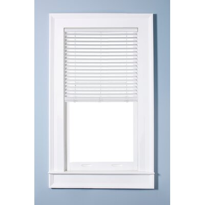 Cordless Faux Wood White Venetian Blind Blind Size: 34 W x 60 L