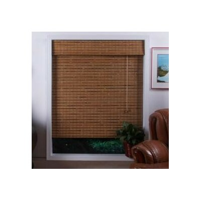 "Top Blinds Arlo Blinds Bamboo Roman Shade in Dali Natural - Size: 53"" W x 74"" H at Sears.com"