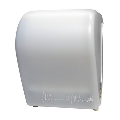 Hands-Free Auto-Cut Roll Towel Dispenser Color: White