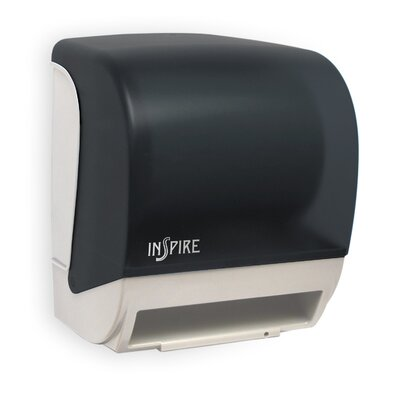 Electronic Touchless Towel Dispenser Color: Black/White