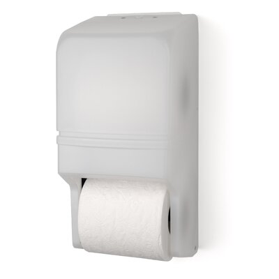 Two Roll Standard Tissue Dispenser Color: White Translucent