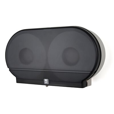 Twin Jumbo Roll Tissue Dispenser Color: Dark Translucent
