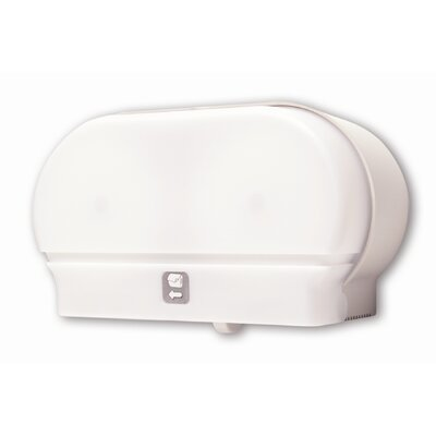 Mini-Twin Standard Tissue Dispenser Color: White