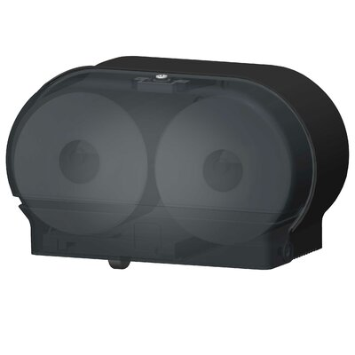 Mini-Twin Standard Tissue Dispenser Color: Black Translucent