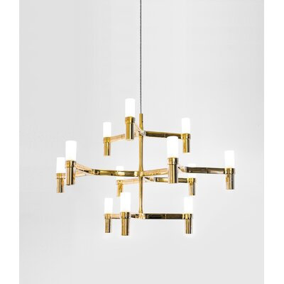 Bouknight 12-Light Candle-Style Chandelier Finish: Gold