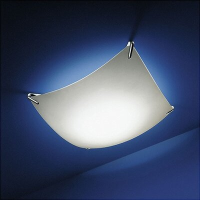 Whitten Wall Fixture / Semi Flush Mount Size / Bulb Type: 32.68 Sq x 6.89 D /Incandescent
