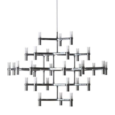 Crown Major 30-Light Candle-Style Chandelier Finish: White