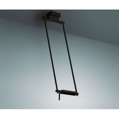 Logo 300-7 Ceiling Lamp Size: 63 cm/24.80, Finish: Black/Chrome