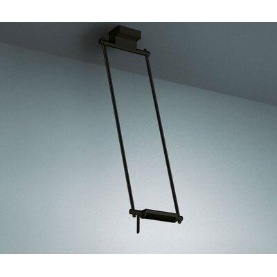 Logo 300-7 Ceiling Lamp Size: 63 cm/24.80, Finish: Black/Chrome