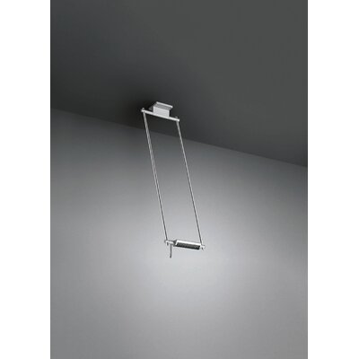 Logo 300-7 Ceiling Lamp Size: 63 cm/24.80, Finish: Silver/Silver