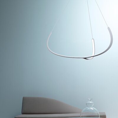 Alya 1-Light LED Geometric Pendant Finish: White