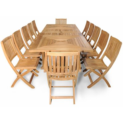 Sanibel Grand Teak 13 Piece Dining Set