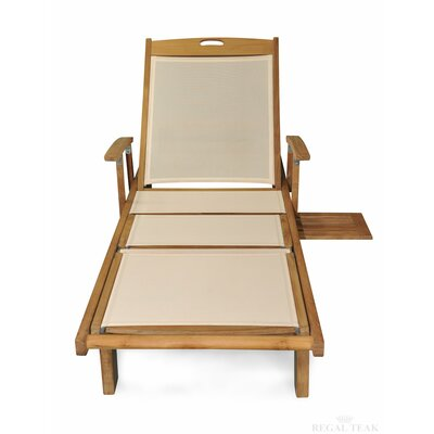 Sling Sun Chaise Lounge Color: Cream