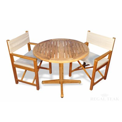 Bodalla Patio 3 Piece Wood Dining Set