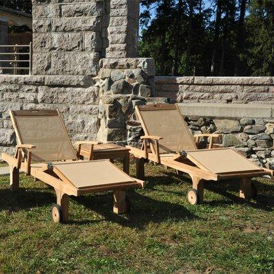 Chesapeake Teak Indoor/Outdoor Chaise Lounge