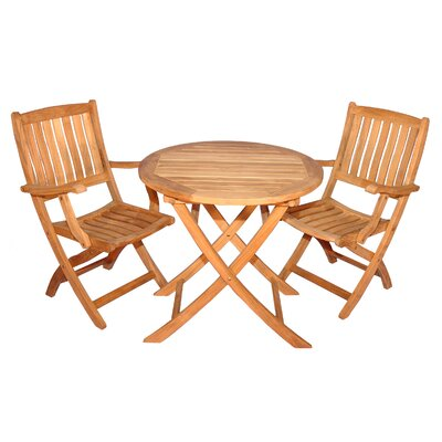 Bullock Balcony 3 Piece Dining Set
